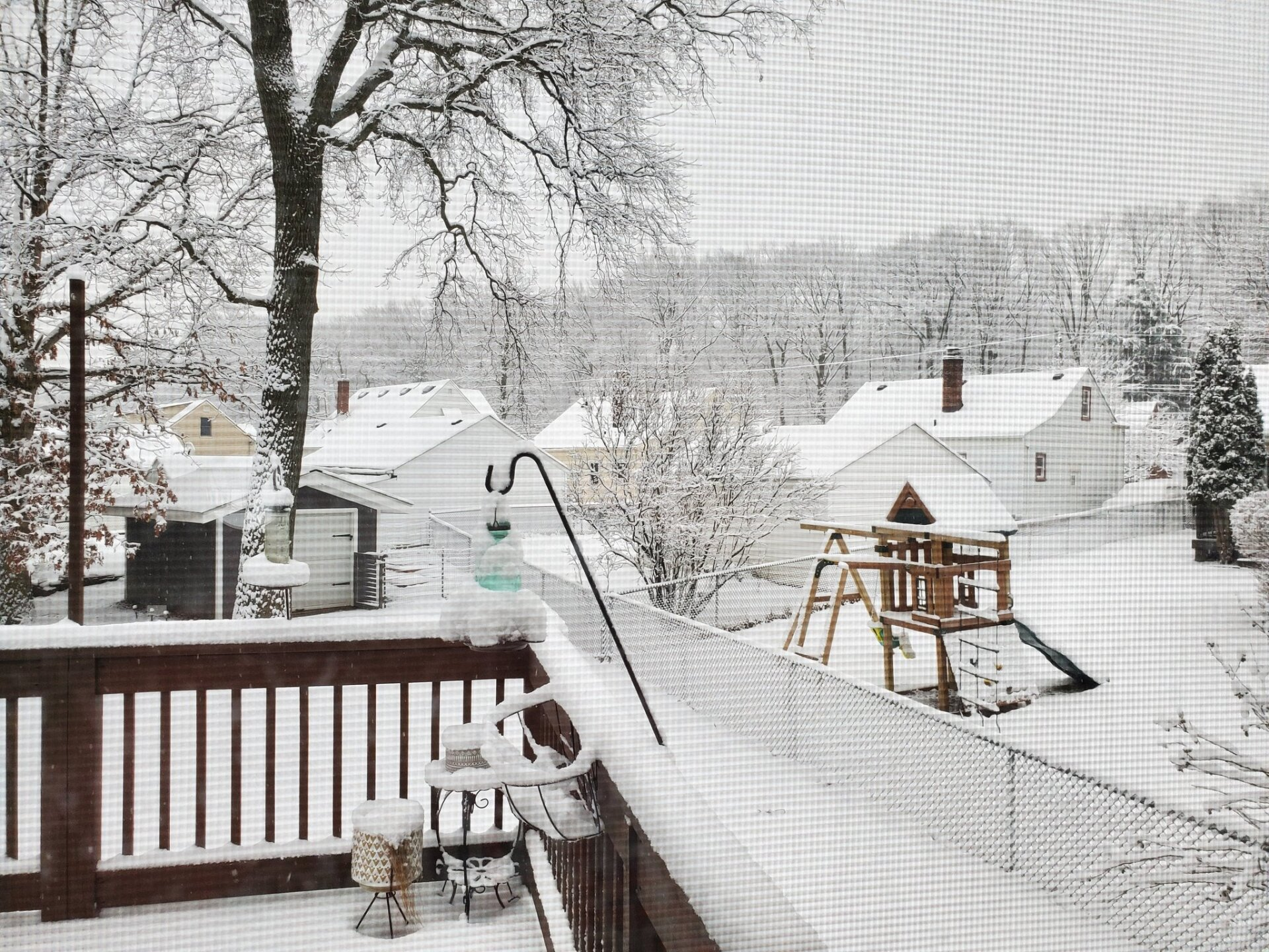 View of snow in Cleveland