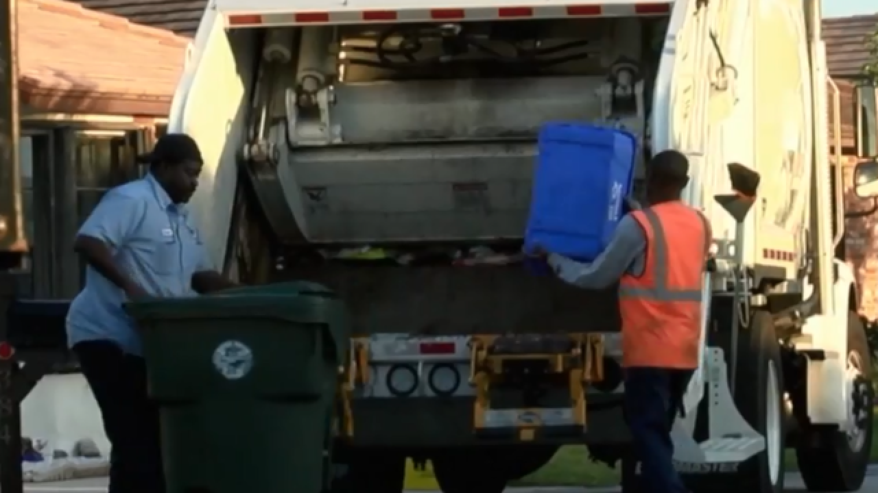 Possible change in trash pick up in Palm Beach County