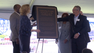 Celebrating a river reborn: Plaque honors past, current Cuyahoga River investments