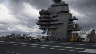 Flight testing begins at sea on USS Gerald R.Ford