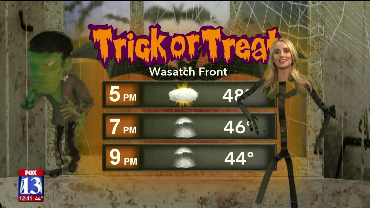 Allison sticks the Halloweenforecast