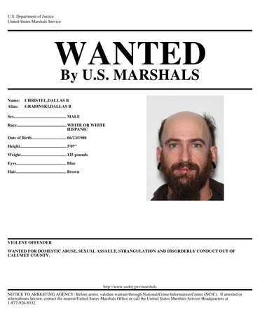 """Pictures of """"Armed and dangerous"""" fugitive possibly hiding in campgrounds in Calumet County"""