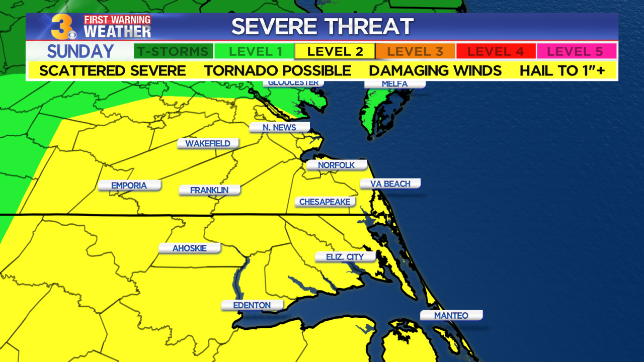 First Warning Forecast: Scattered strong to severe storms possible this evening