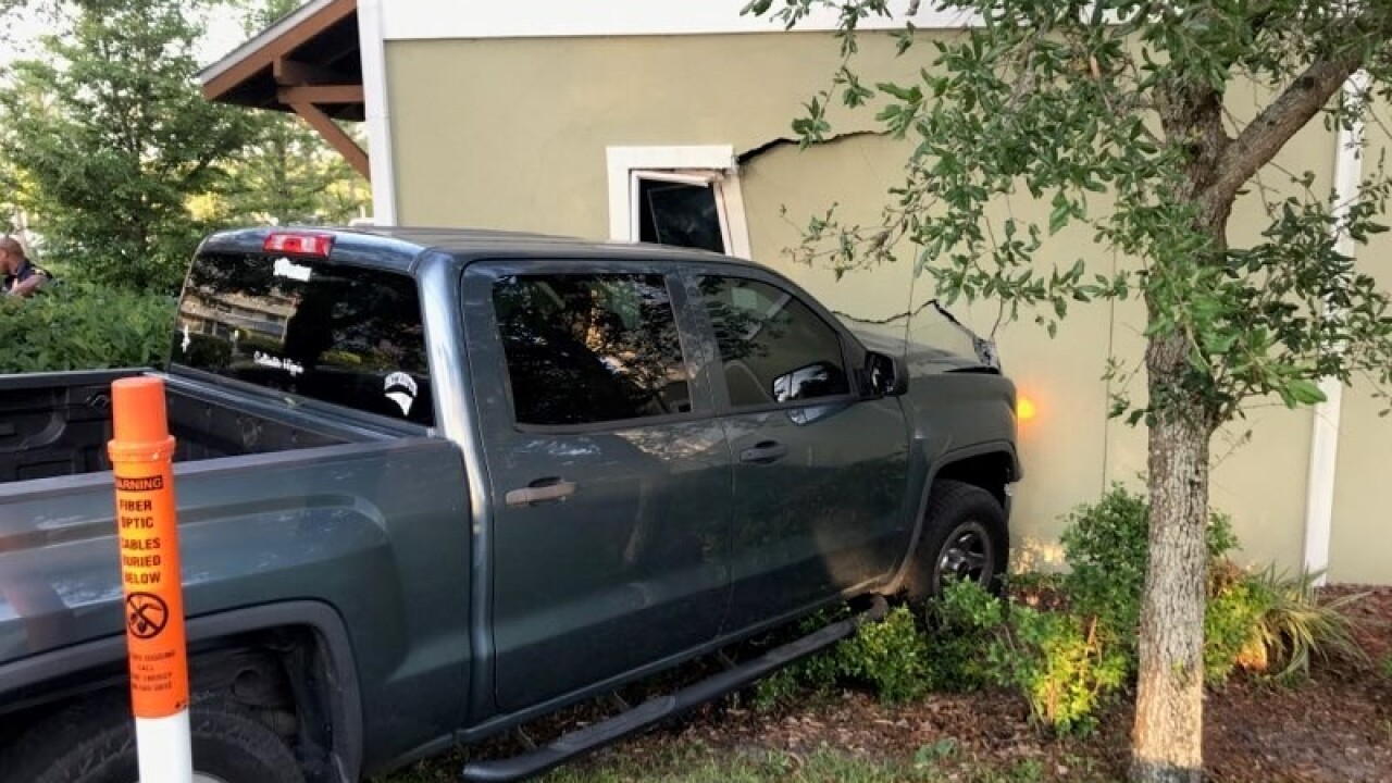 CPD Stolen Vehicle crashes into Apartment