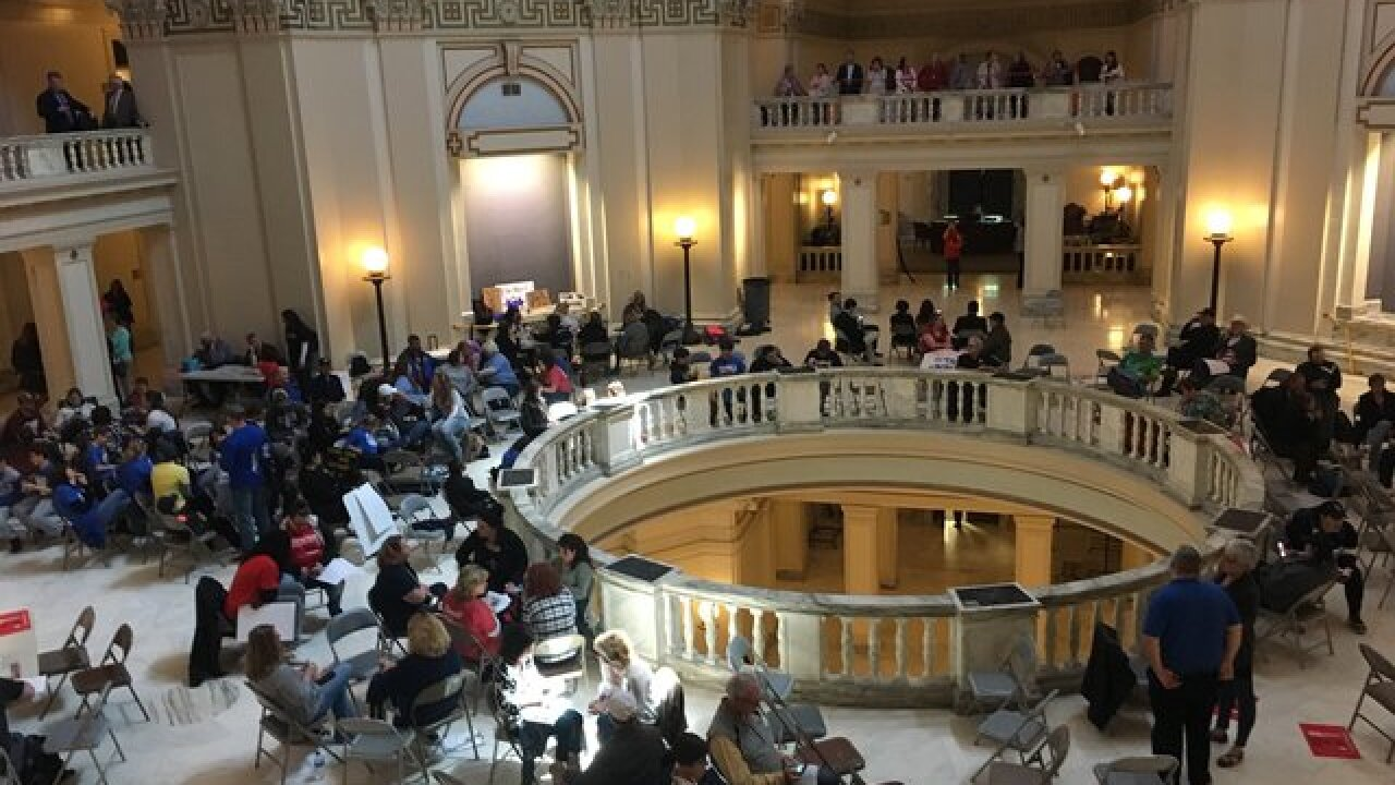 Hundreds of parents fill Oklahoma capitol after teacher walkout ends