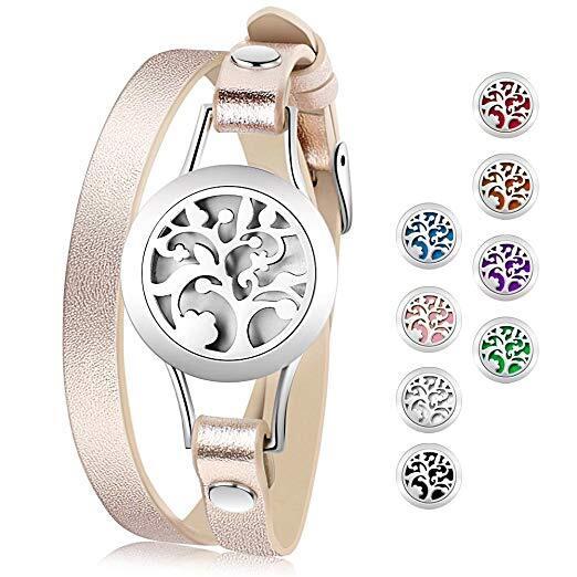 Essential Oil Diffuser Bracelet,Stainless Steel Aromatherapy Locket Bracelets.jpg