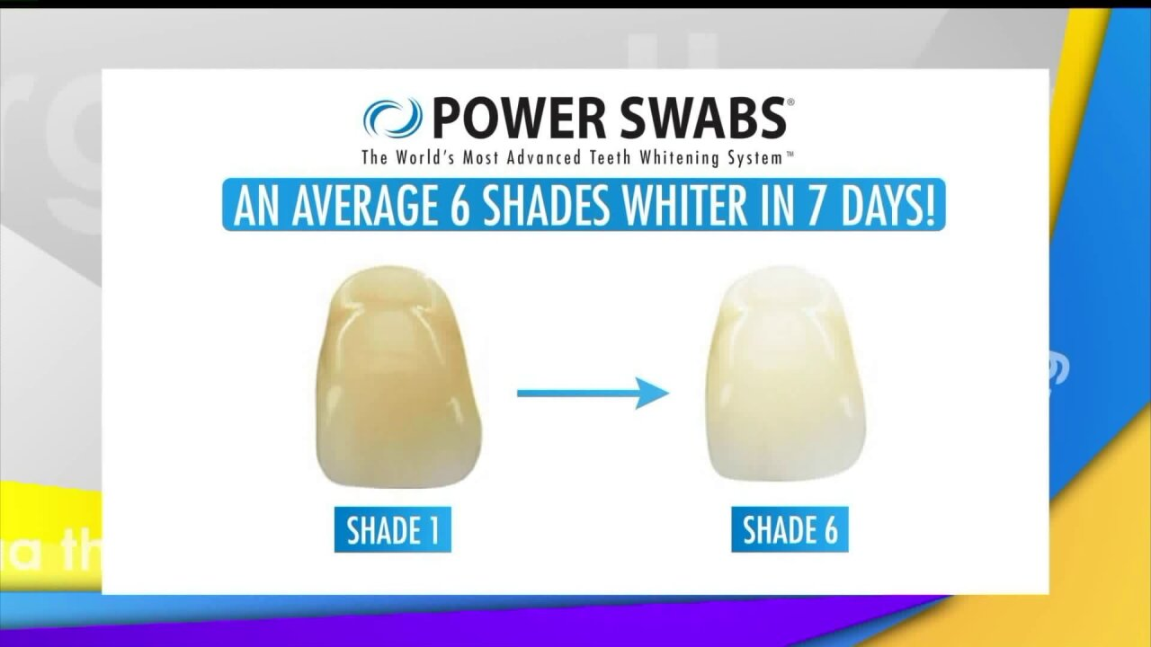 Whiten your teeth by six shades with PowerSwabs