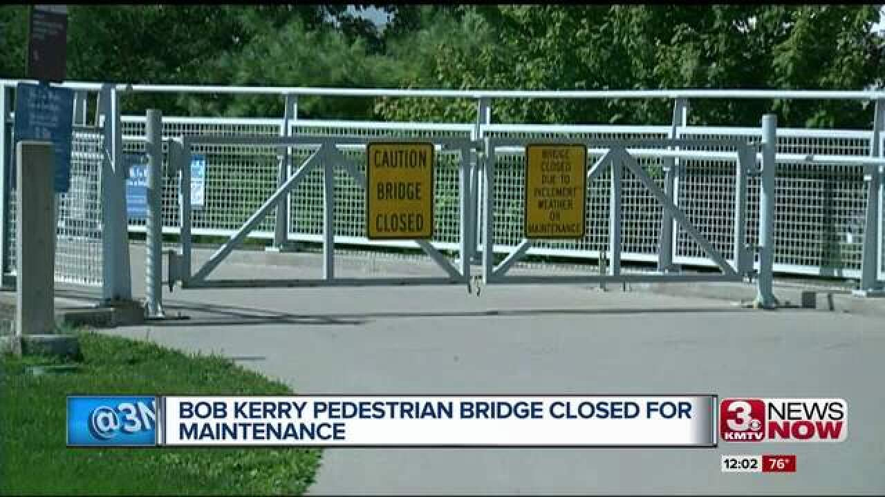 Bob Kerrey Pedestrian Bridge closed for inspection