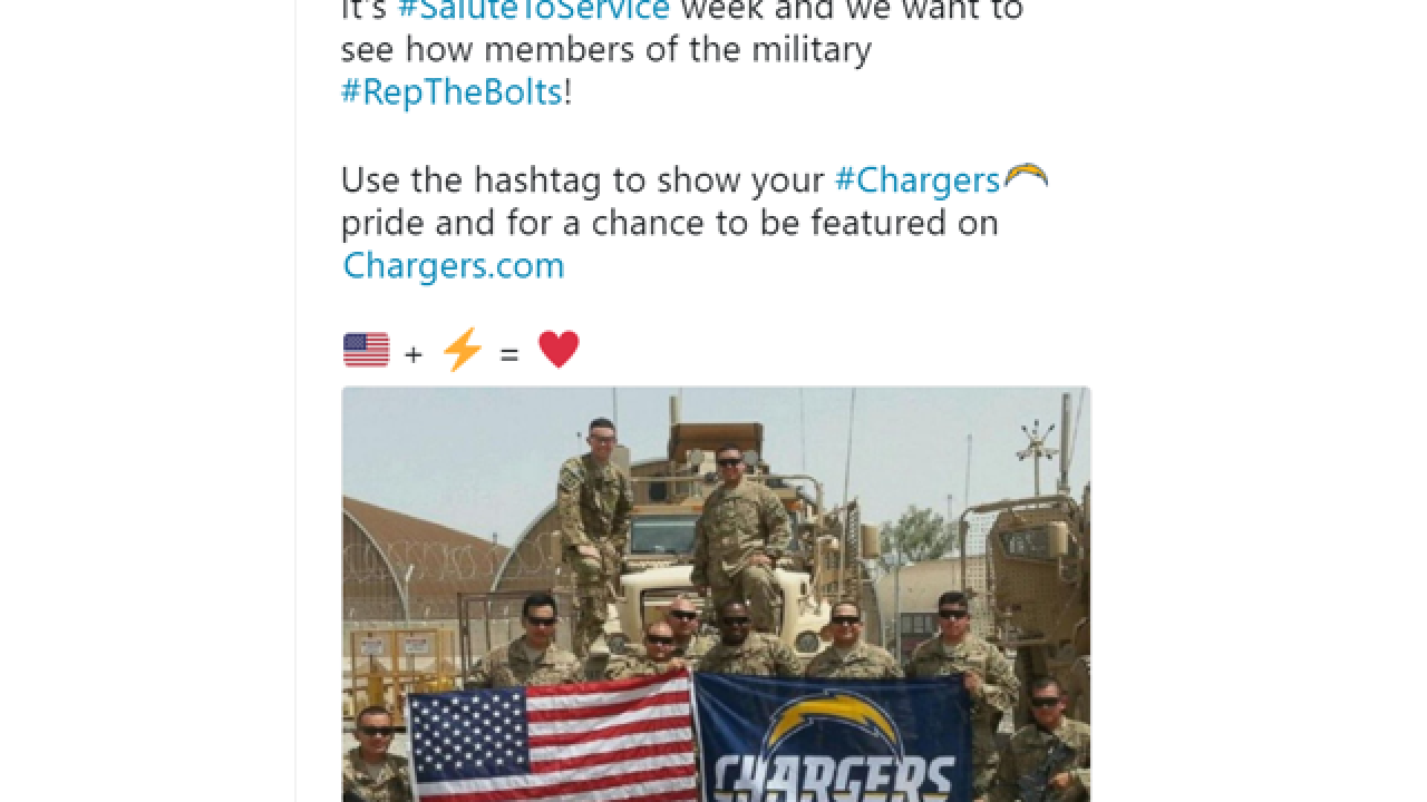 Internet goes crazy over Chargers tweet