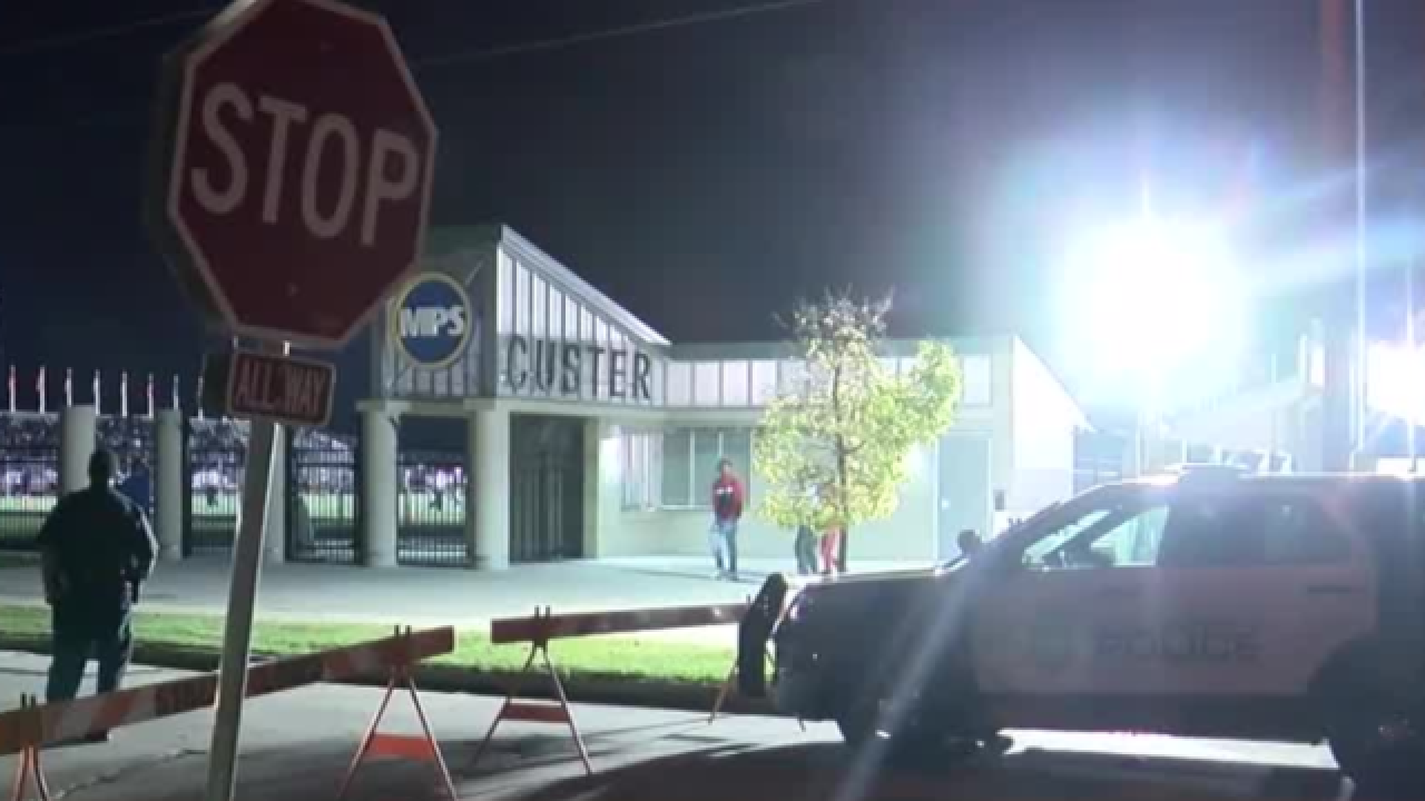 Gun shots fired near Custer Stadium during game