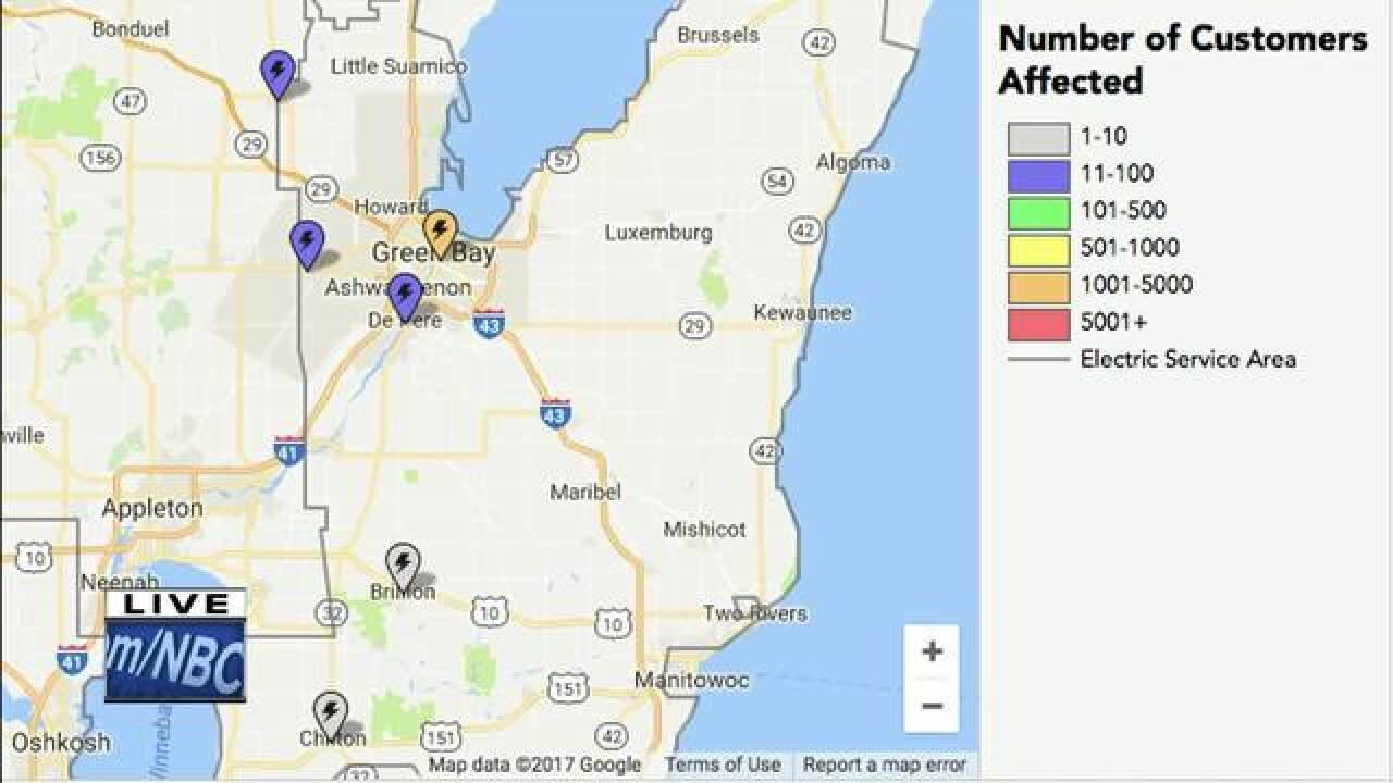 Storm Damage Overnight Power Outages In Northeast Wisconsin