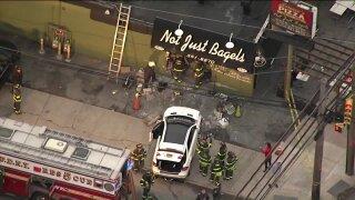 Vehicle crashes into Staten Island bagel shop