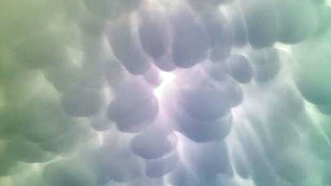 PHOTOS: Cool 'mammatus' clouds over Tri-State