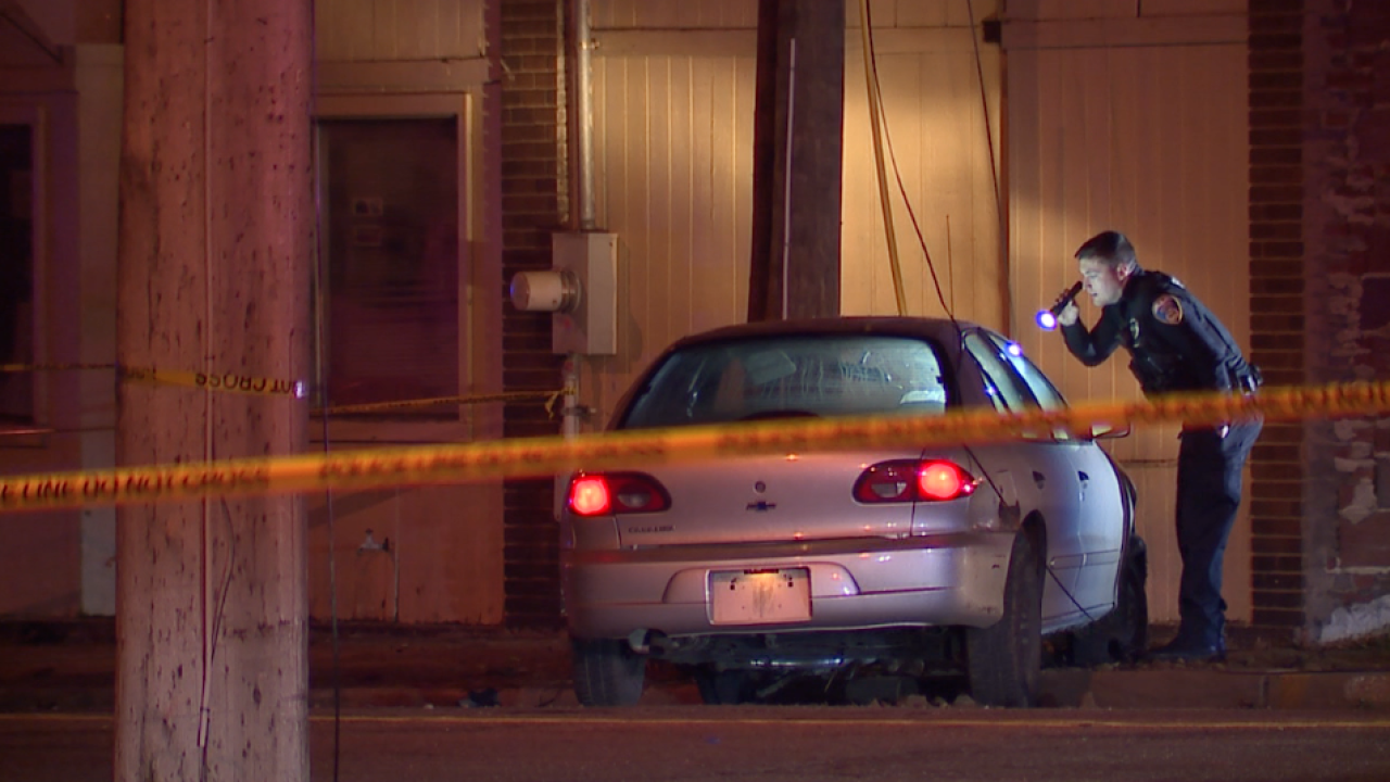 Scene of officer-involved shooting in Akron.