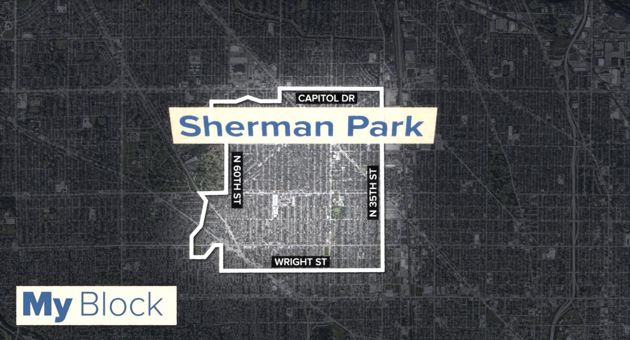 The boundaries of the Sherman Park neighborhood according to the Sherman Park Community Association.