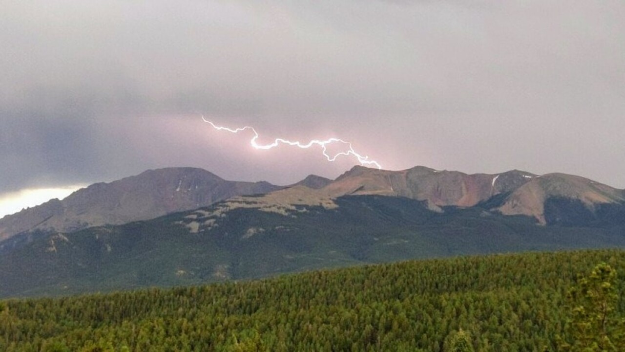 Lightning over Pikes Peak