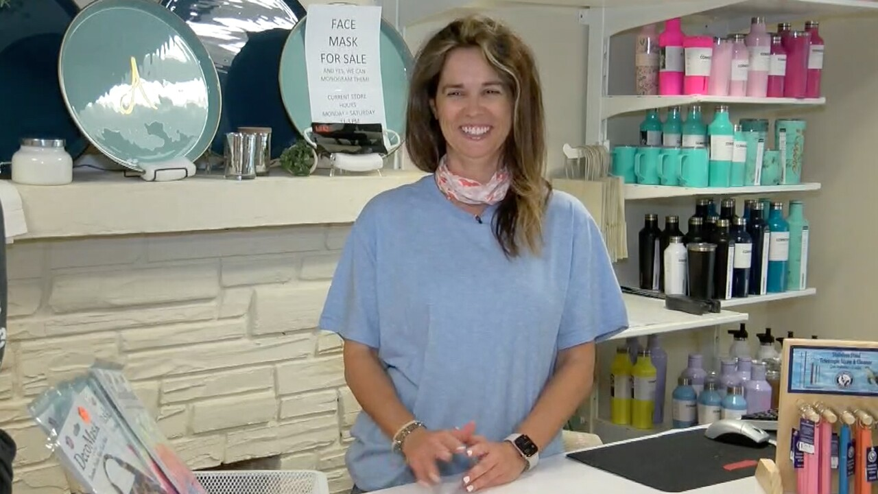 Sabrina Amelung, owner of The Monogram Closet in Delray Beach