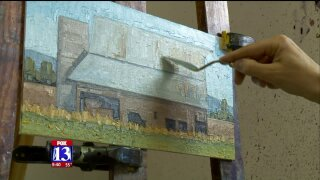 Uniquely Utah: Artist wields pallet knife to paint