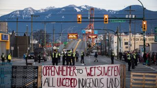 A protest over a pipeline is shutting down train service across much of Canada