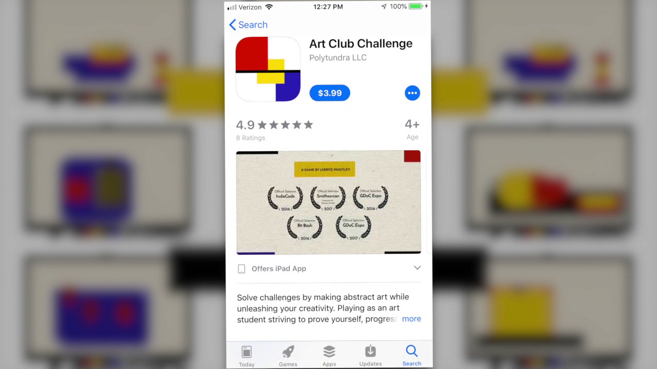 Art Club Challenge is for sale on the Apple App Store.