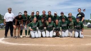 Wayland softball wins district title