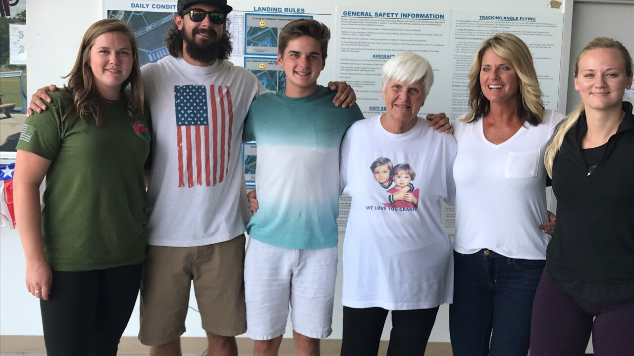 Grandmother and family jump from plane to celebrate 84thbirthday