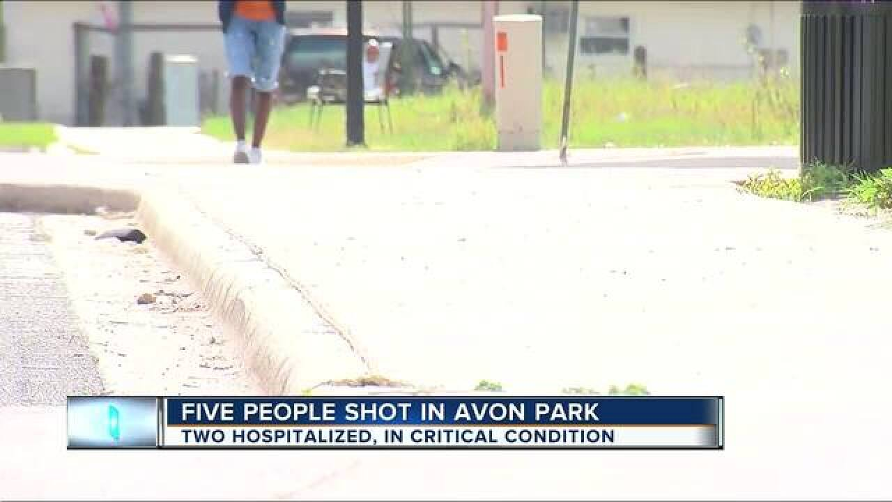 Five people shot at large gathering at Avon Park intersection