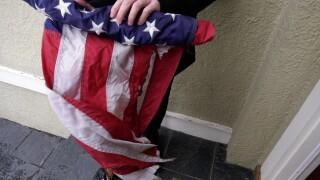 'Cowardly act:' Bozeman police investigate American flag arson