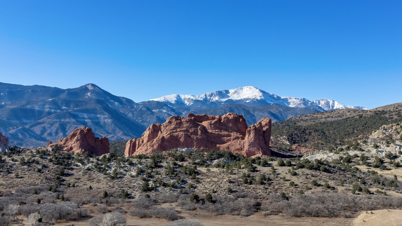 Garden of the Gods Pikes Peak Mesa Overlook