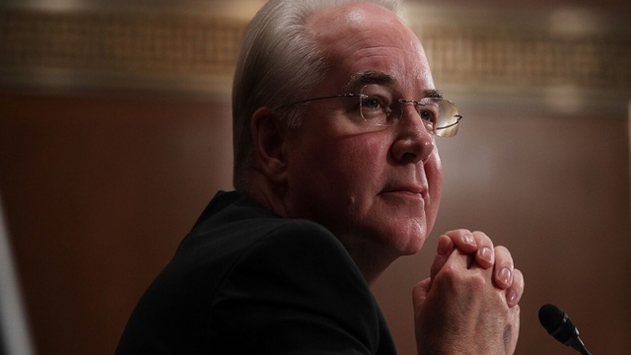 Tom Price, Trump's choice to head HHS, advances to final vote