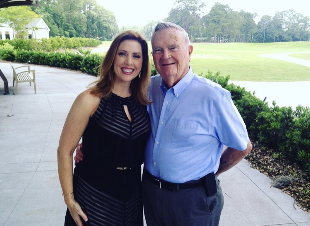 Alicia Smith and her father Dave Smith before he was diagnosed with pancreatic cancer in 2016