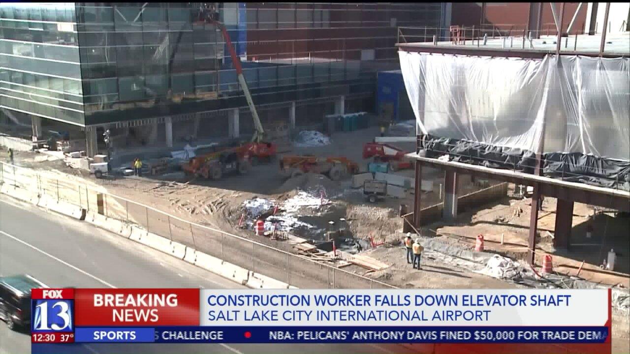 Man taken to hospital after falling 40 feet down elevator shaft at Salt Lake CityAirport