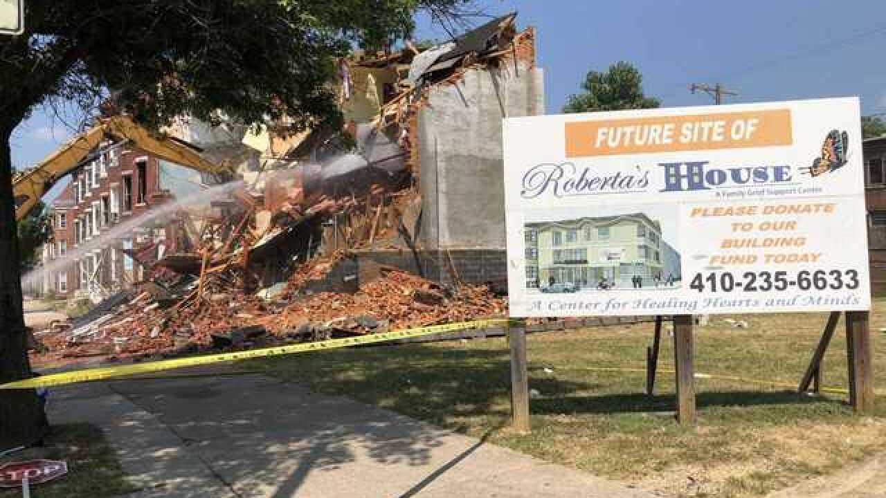 Demolition begins for city violence grief center