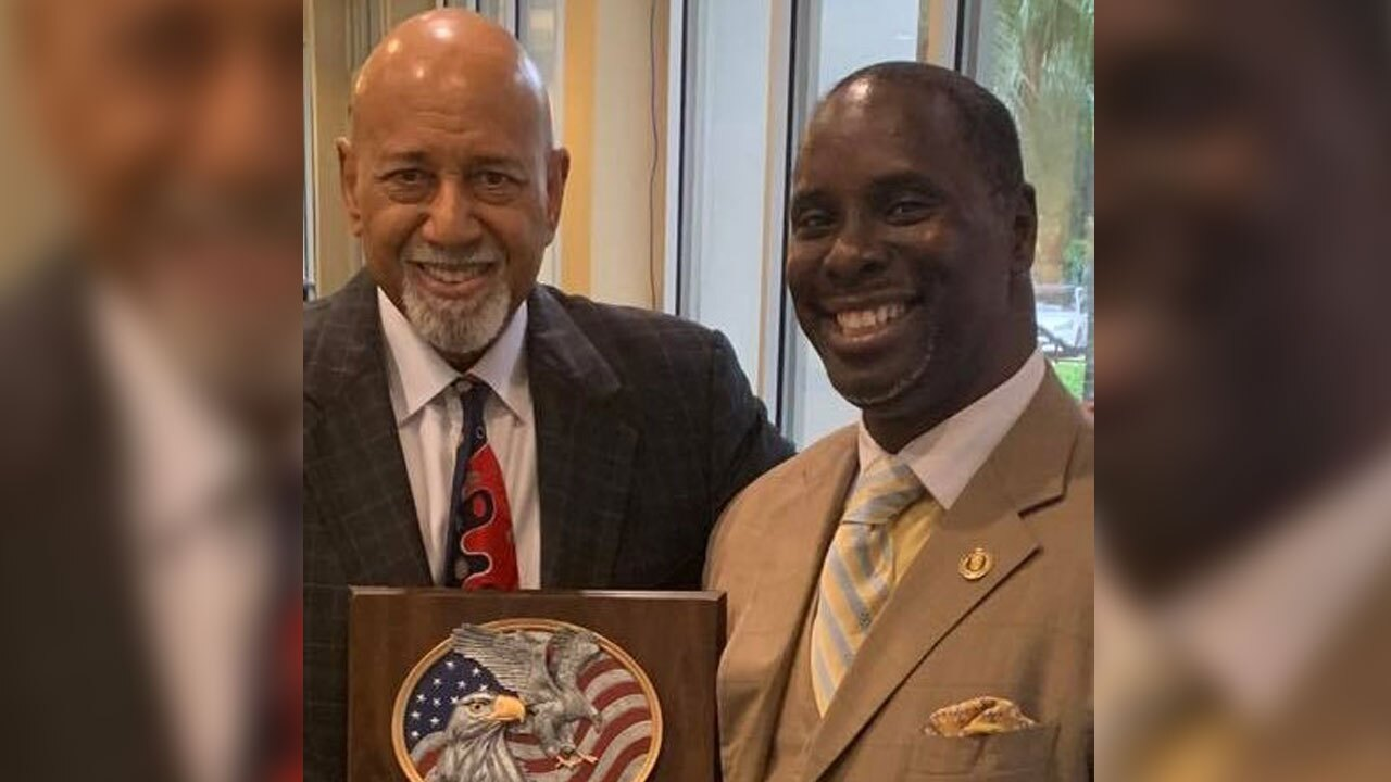U.S. Rep. Alcee Hastings with author Elvin Dowling