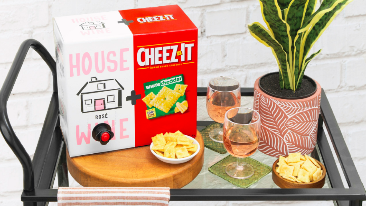 Cheez-It, wine company pair-up just in time for National Wine and Cheese Day