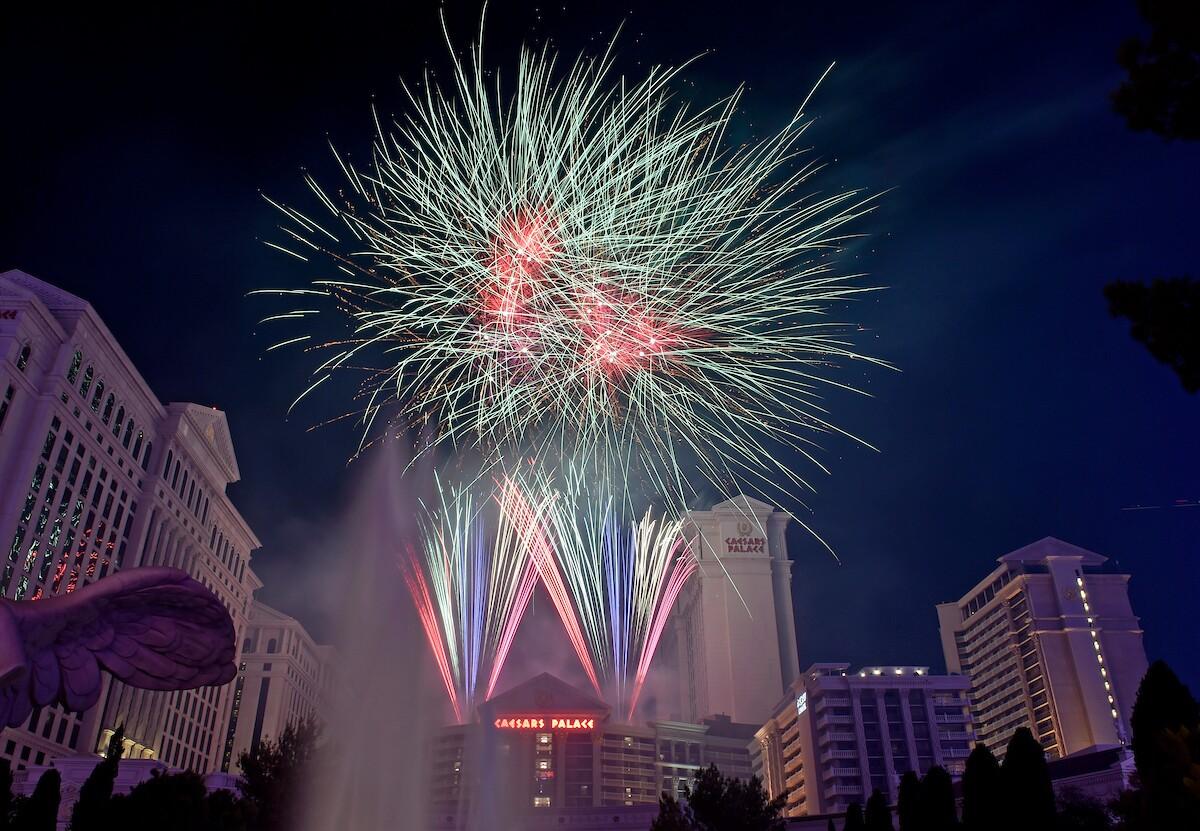 Caesars Strip Fireworks