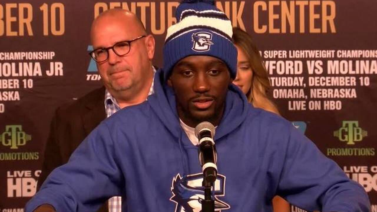 Terence Crawford to defend welterweight title in Omaha