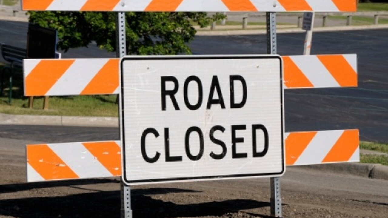 A significant road closure is scheduled on I-695 for Saturday night