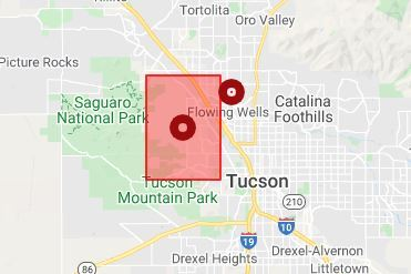 Nerly 2,000 TEP customers lost power Wednesday. Photo via TEP.
