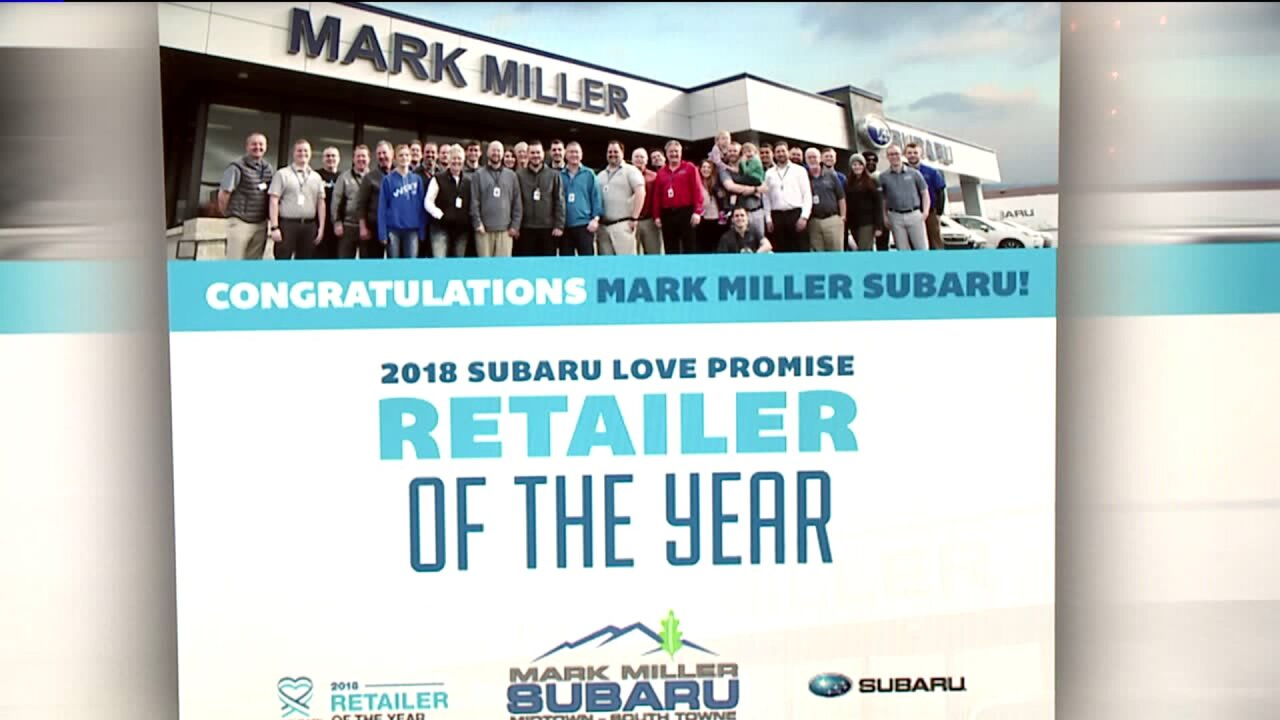 Mark Miller Subaru wins Love Promise Retailer of the Year