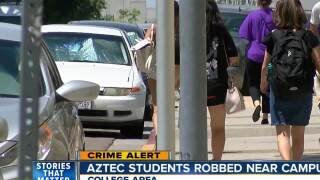Aztec students robbed near campus