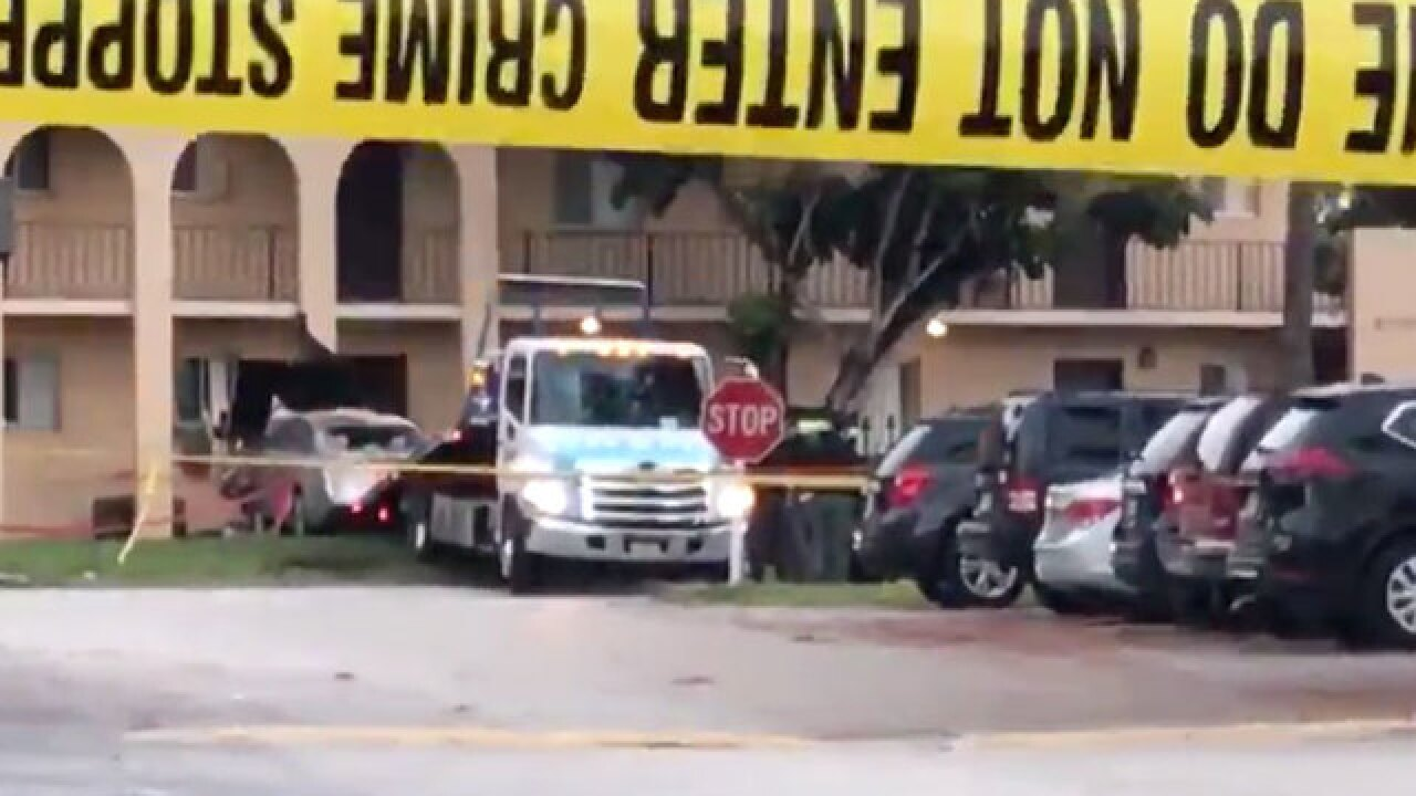 2 men dead after car crashes into Greenacres-area apartment building identified