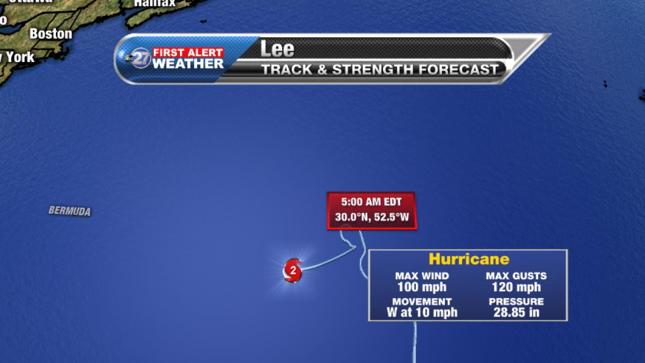 Hurricane Lee Advisory (5am 09/26/2017)
