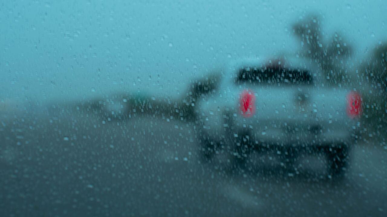 File image: Rainy drive