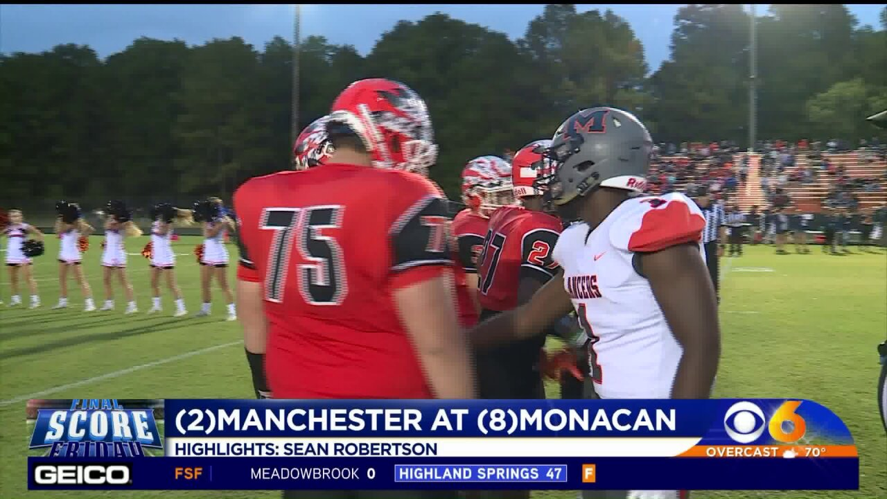 Manchester runs past Monacan to stay unbeaten