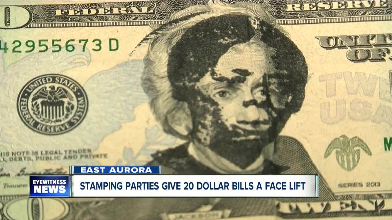 Group stamping Tubman's face on $20 bill