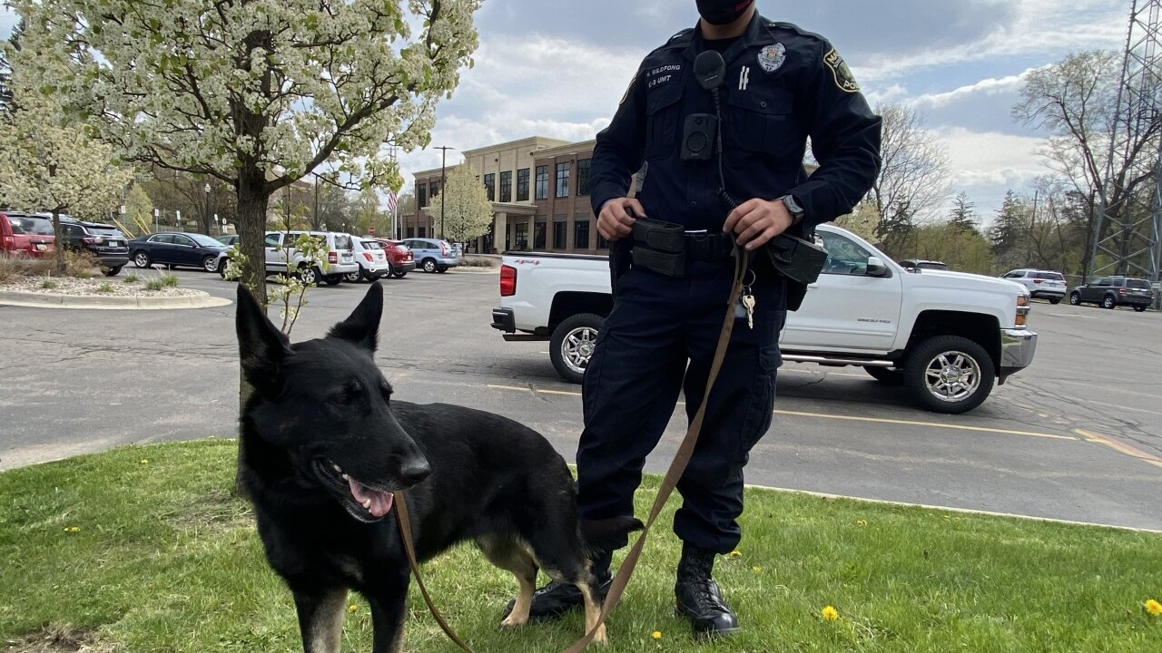 Officers Wildfong and Tamarack, Mason P.D.'s first K9 unit