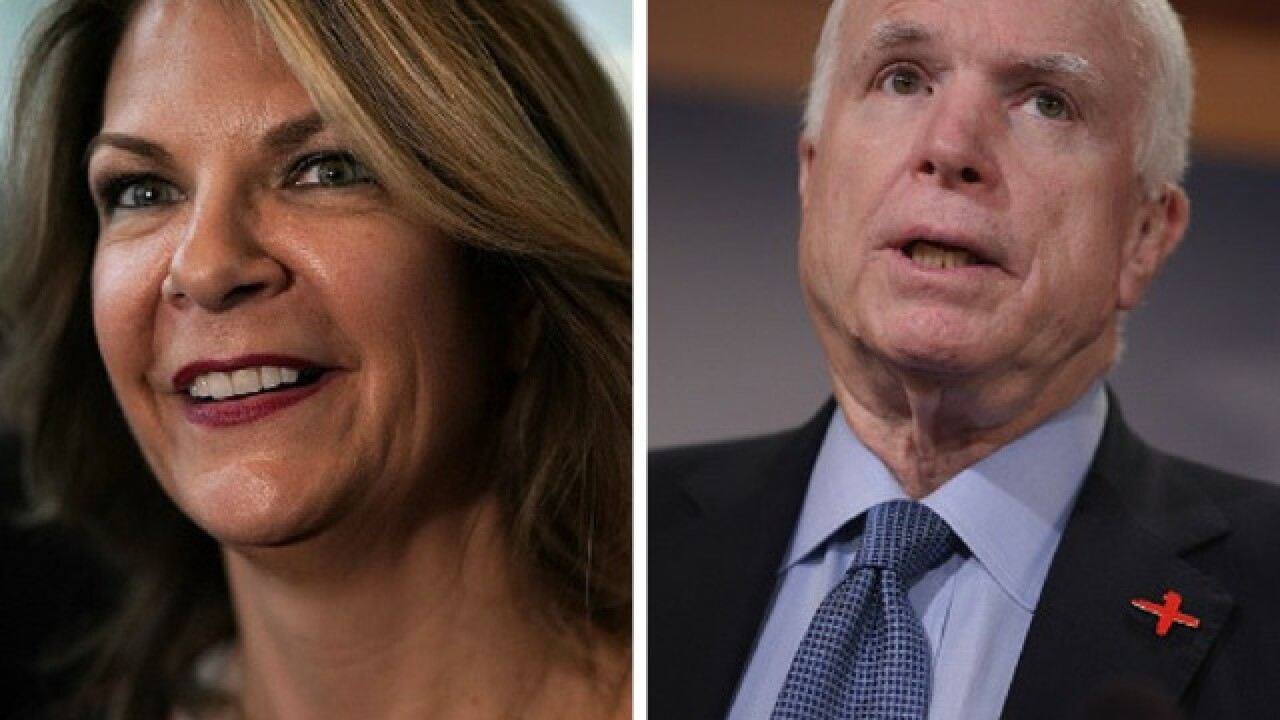 Kelli Ward said McCain announcement about ending treatment was timed to hurt her campaign