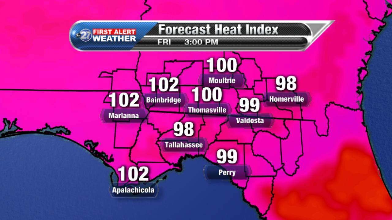 Forecast Heat Index (08/18/2017)