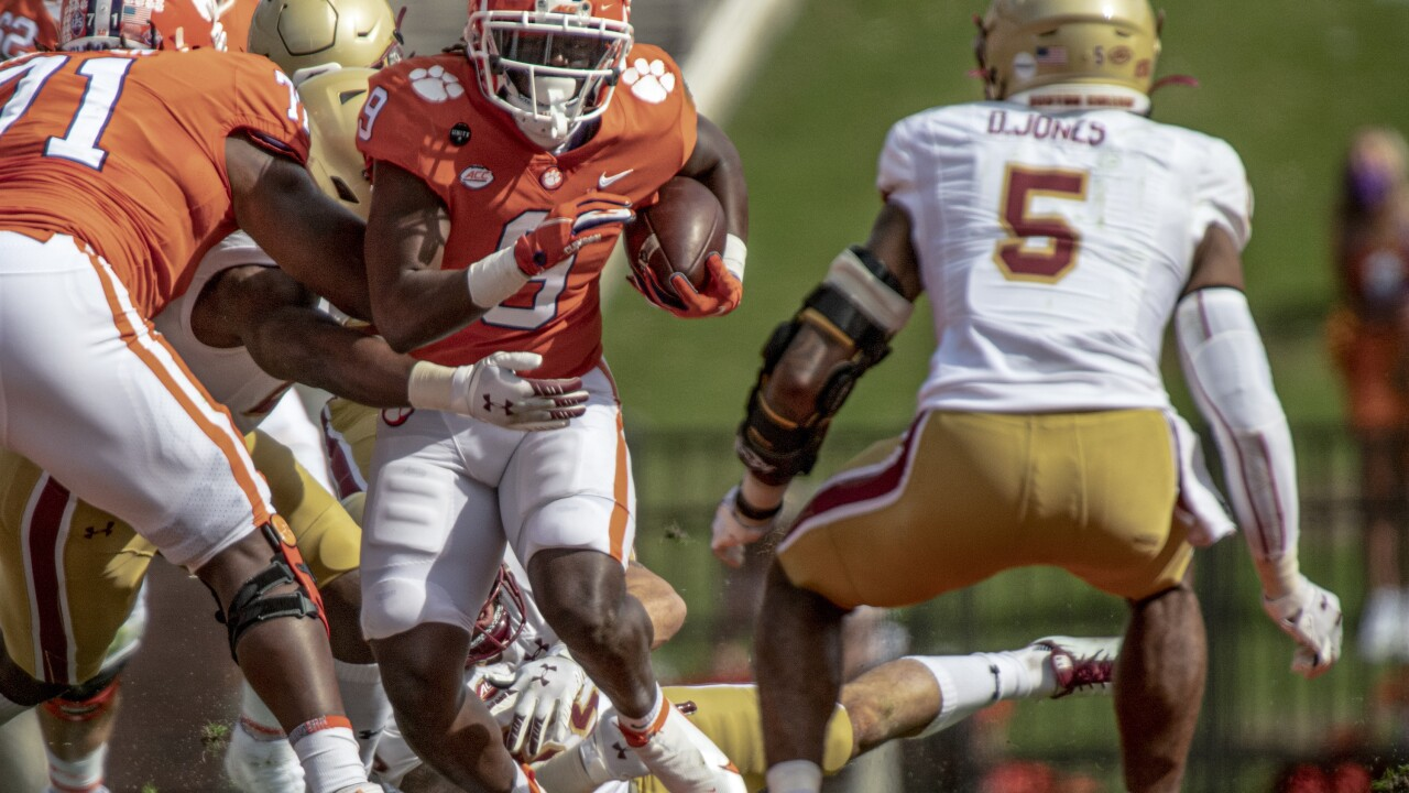 Travis Etienne - Clemson vs Boston College